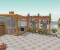 潜江郊区民房自建别墅庭院景观山水风格