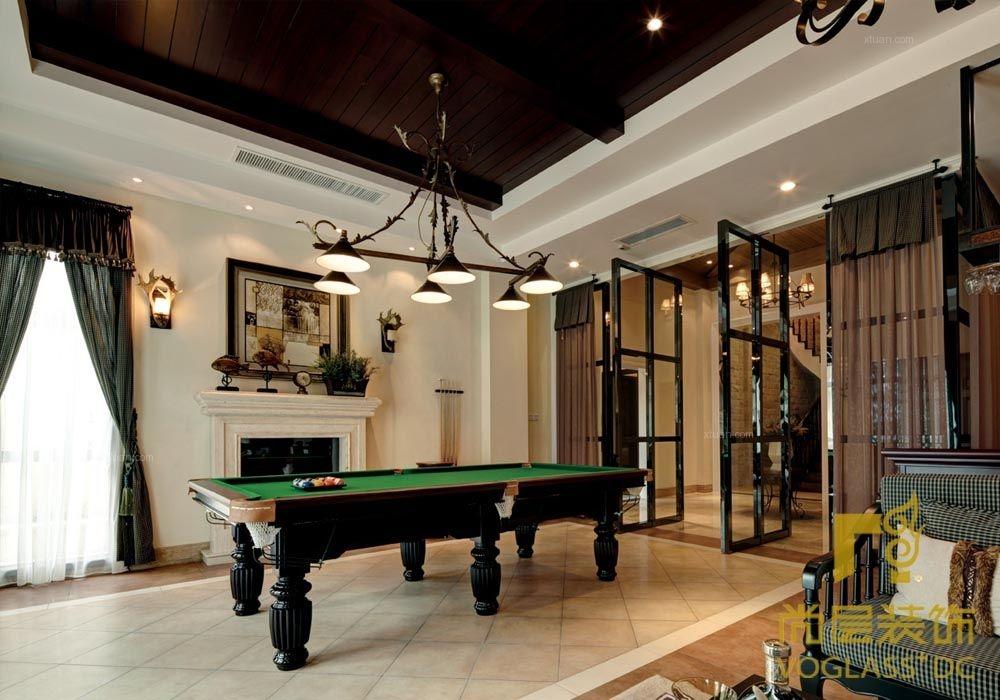 别墅美式风格地下室图片