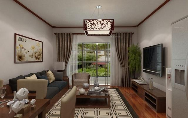 经典双城130平米三室两厅新中式风格