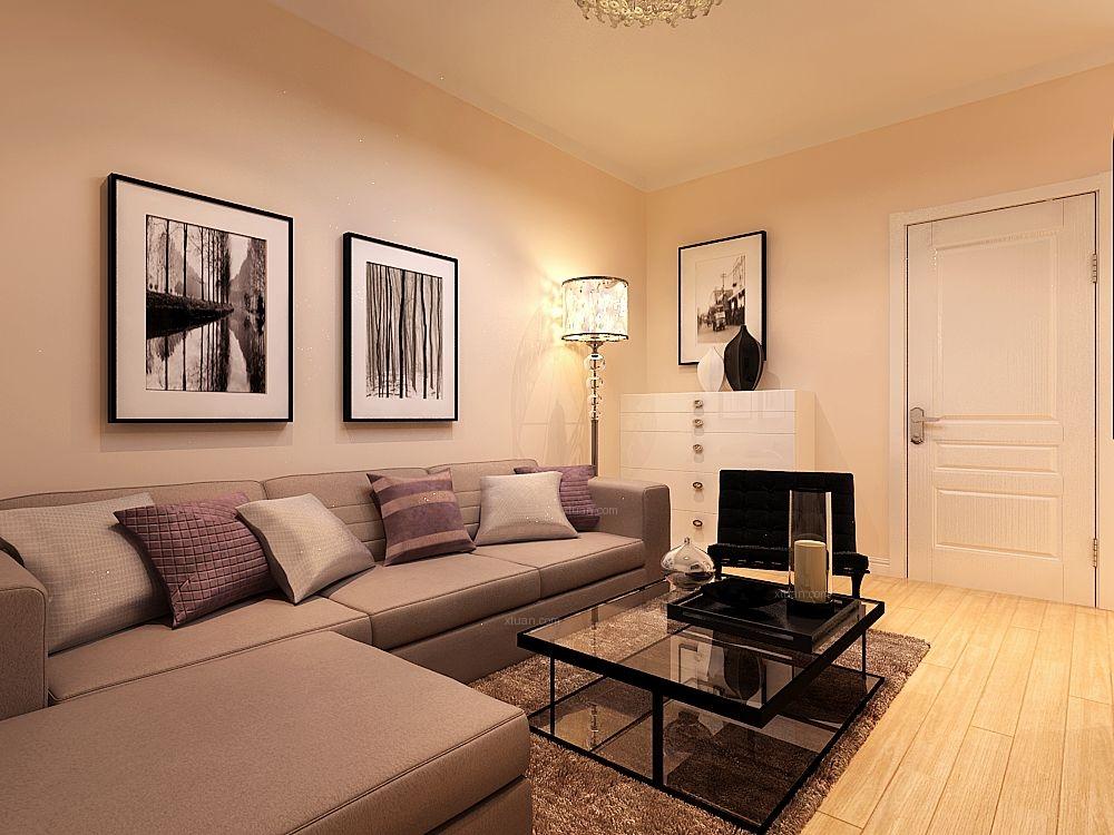一室一厅现代简约客厅