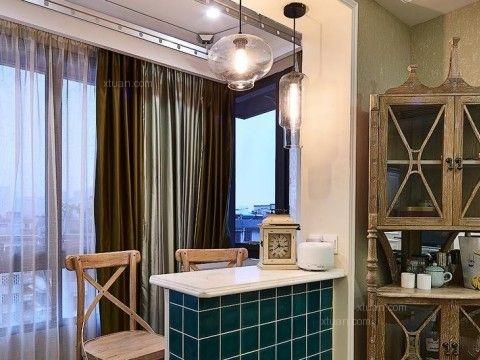 一居室法式风格阳台软装_天府世家装修效果图-x团装修图片
