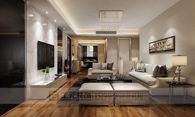 荣安华府,140平方,现代风格,套房