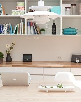 复式楼简约风格书房_100平复式公寓装修效果图-x团