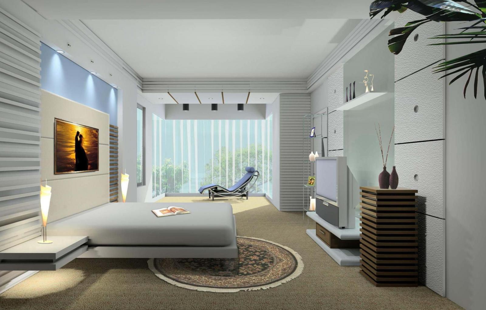 四居室简约风格主卧室_紫禁长安装修效果图-x团装修网
