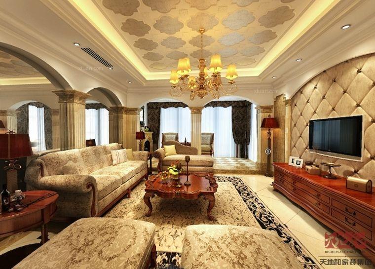 海景别墅美式风格客厅