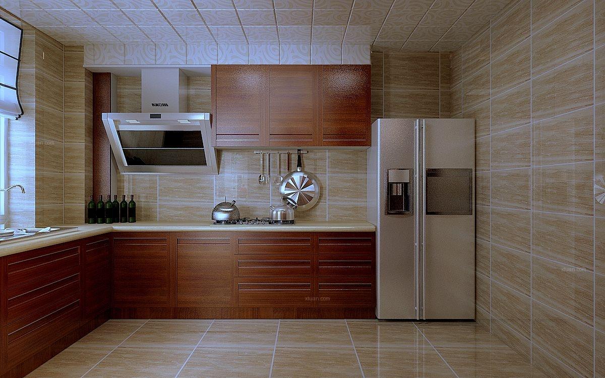 两居室中式风格厨房图片