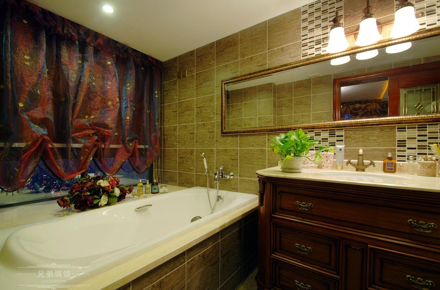四居室欧式风格卫生间软装