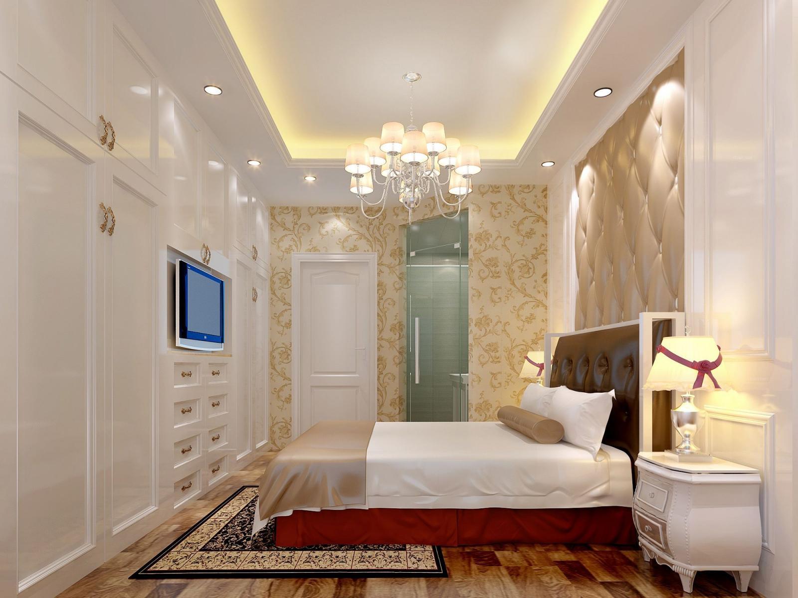 两室一厅简欧风格主卧室_中宏花苑2#1305装修效果图-x图片