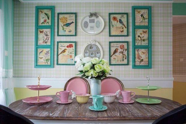三居室北欧风格客厅照片墙