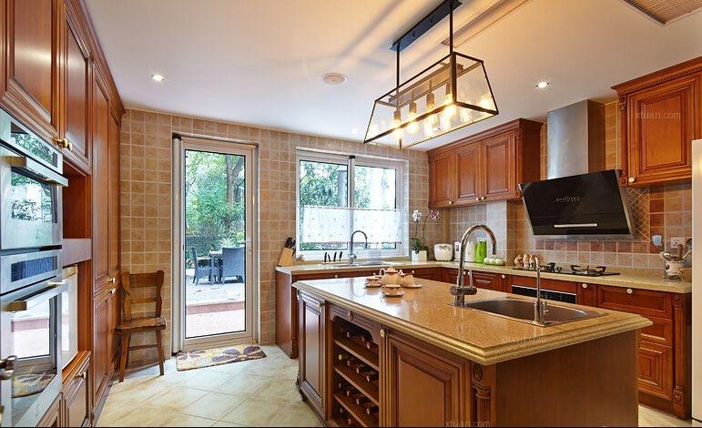 别墅美式风格厨房开放式厨房