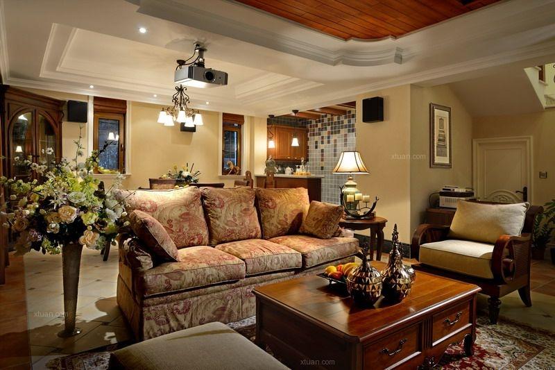 别墅新古典客厅