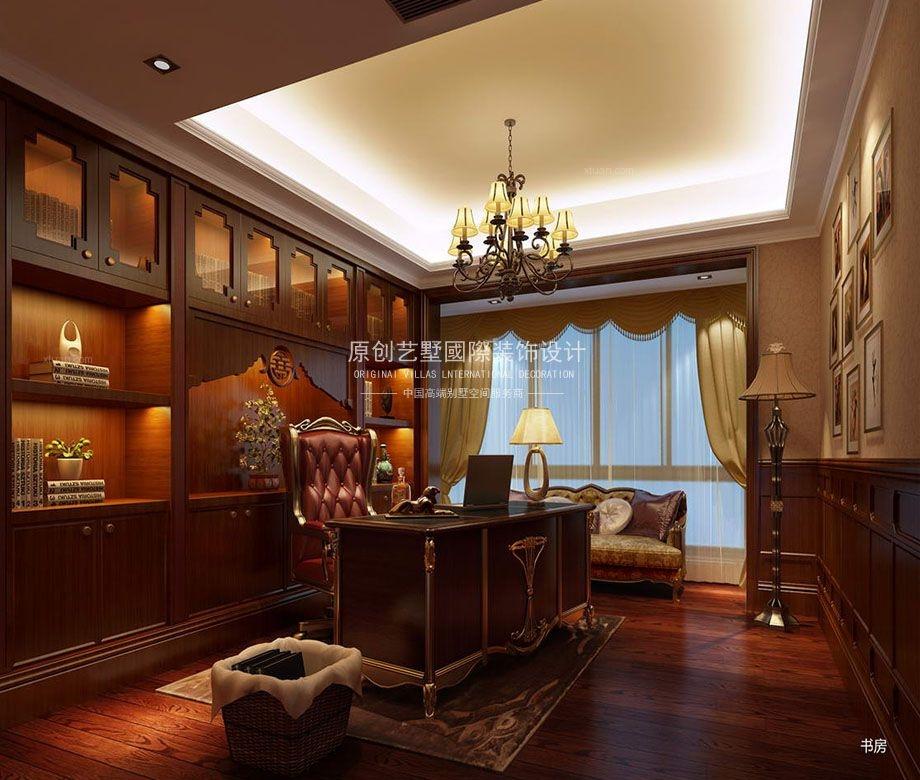 别墅现代简约书房隐形门