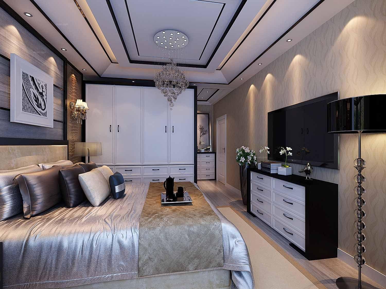 三居室北欧风格卧室图片