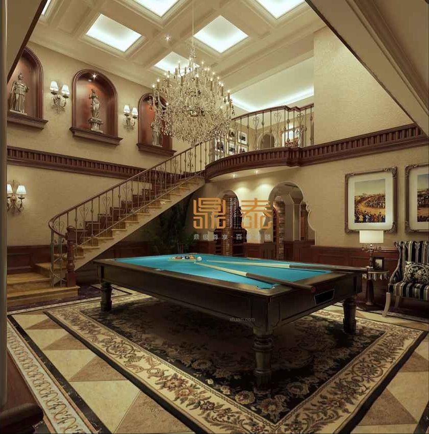 独栋别墅古典风格地下室图片