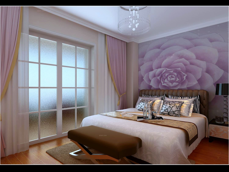 两居室现代简约卧室_保亿·风景御园-时尚现代简约图