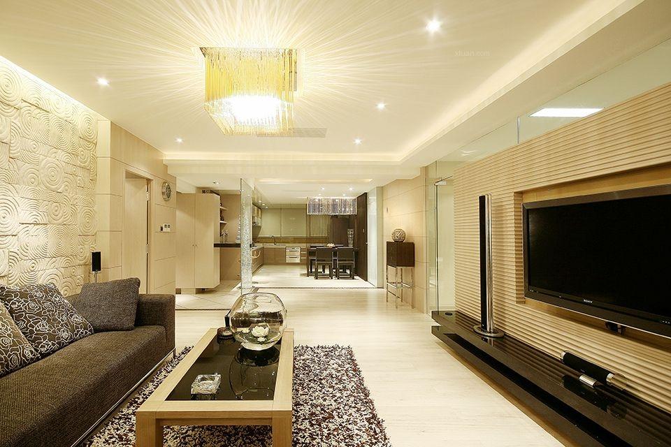 三居室现代简约客厅软装