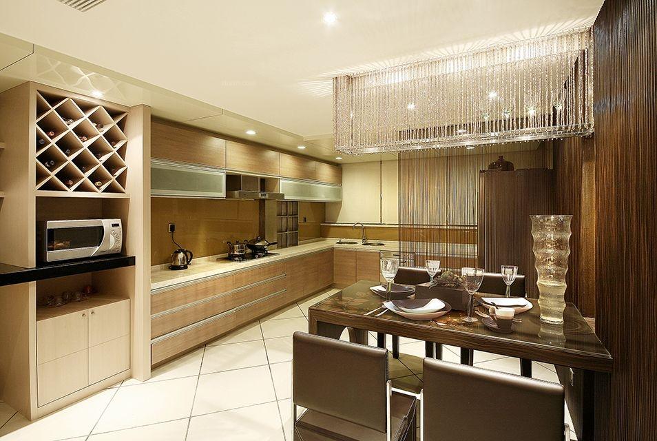 三居室现代简约餐厅软装
