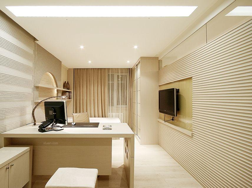 三居室现代简约书房软装