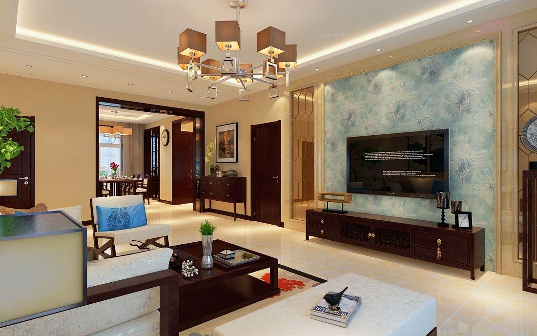 两室一厅中式风格客厅