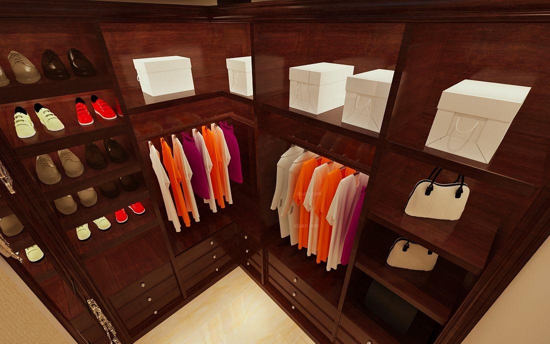 两室一厅中式风格衣帽间