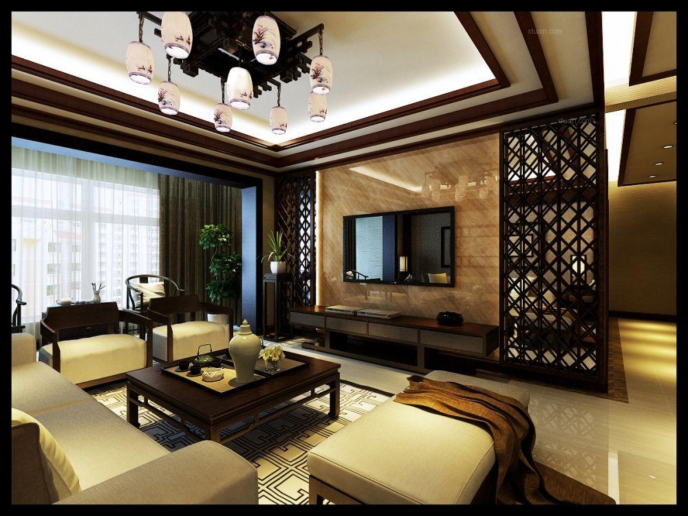 三居室中式风格客厅图片