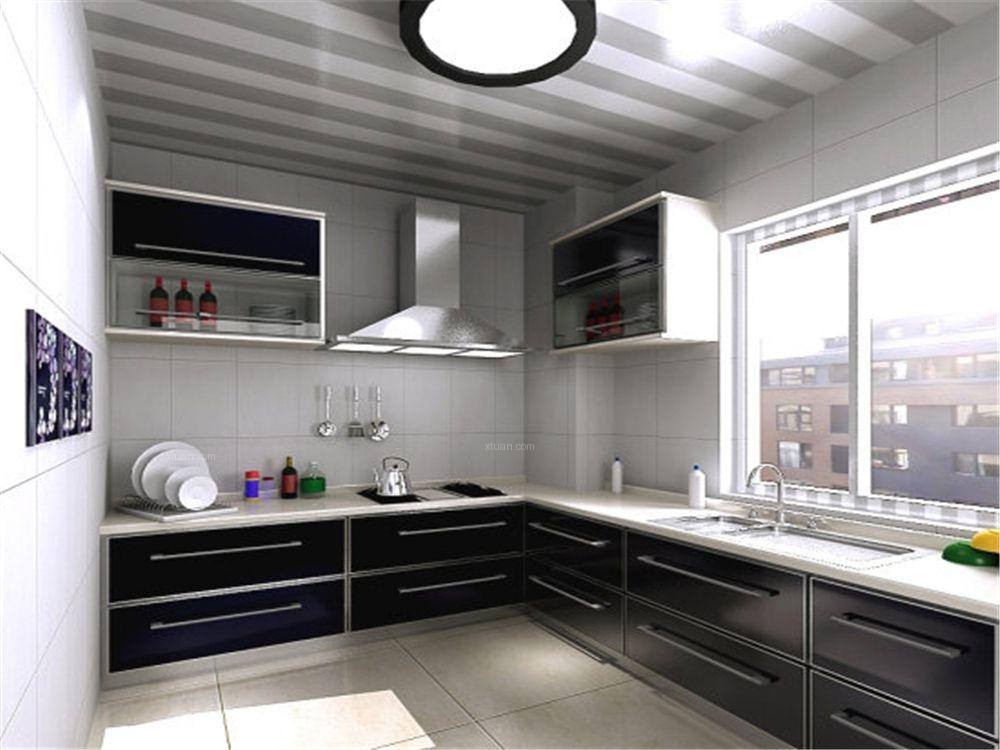 复式楼现代风格厨房图片