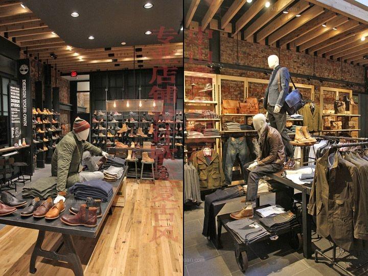 怀旧风格专卖店设计,美式复古门店装修