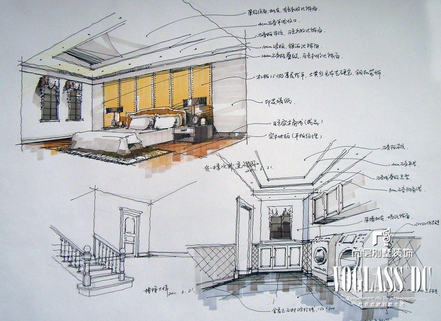 成都别墅首席设计师推荐胡军龙湖长桥郡美式风格案例欣赏装修效果图图片