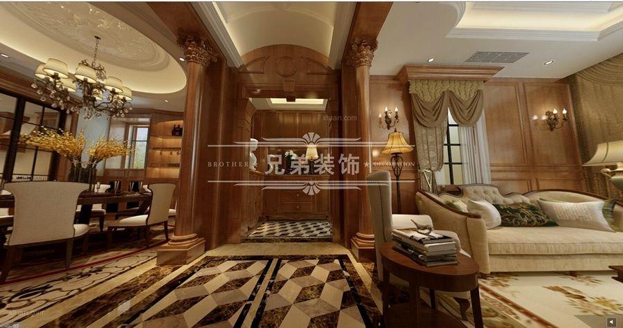 重庆大足别墅装修设计公司|御墅林枫联排装修案例效果图