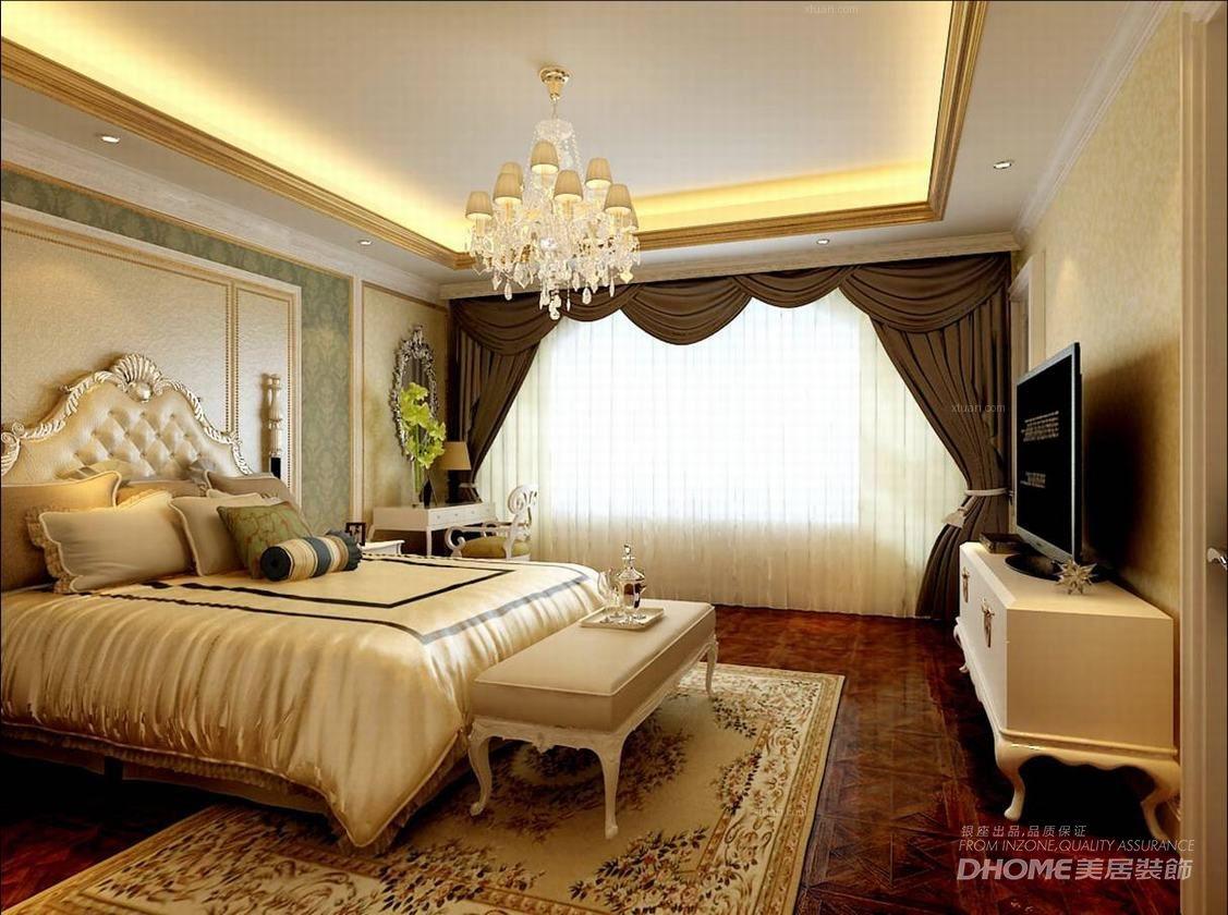 联排别墅古典风格卧室软装