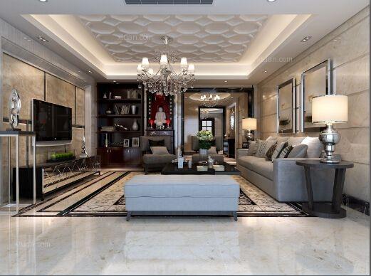四居室现代风格客厅