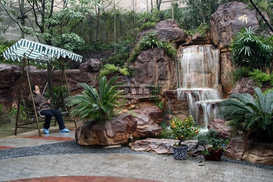 别墅美式风格花园入户花园