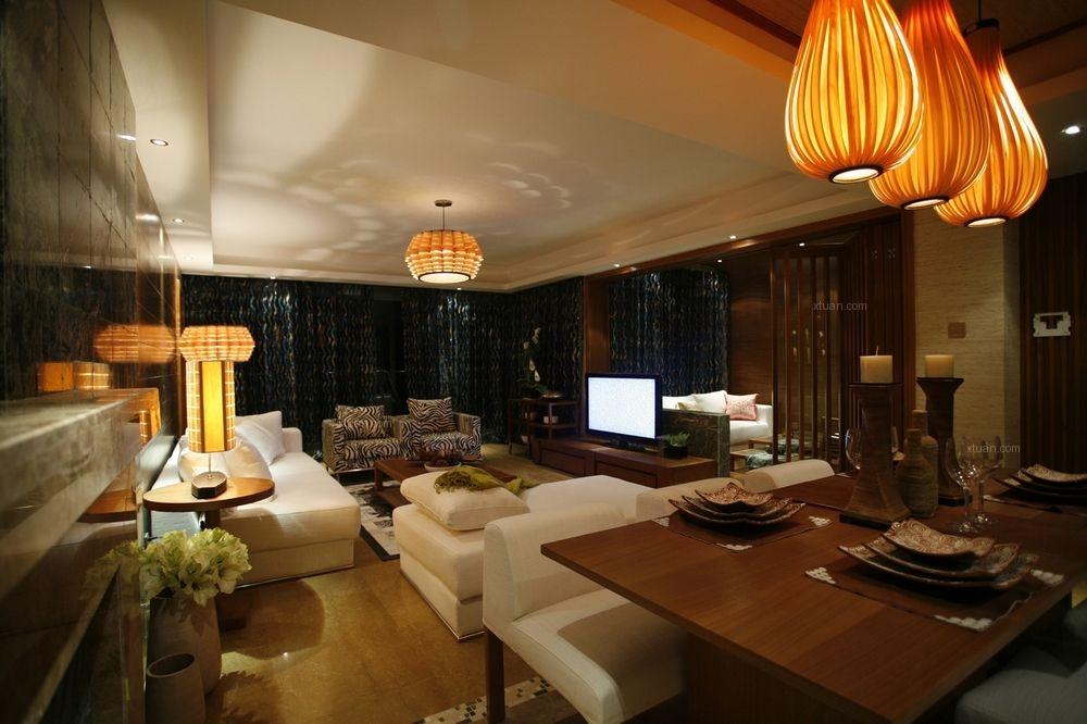 别墅东南亚风格客厅