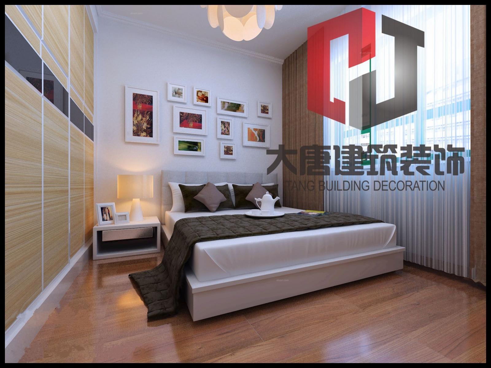 复式楼现代简约卧室_豪邦康城装修效果图-x团装修网图片