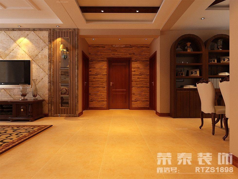 两居室美式风格过道图片