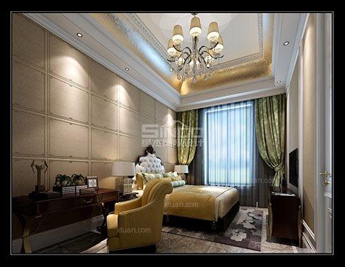 独栋别墅法式风格卧室软装图片