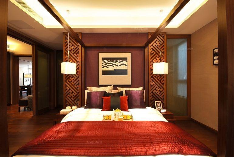 三居室中式风格卧室