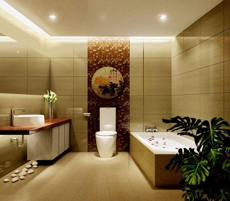 三居室中式风格卫生间