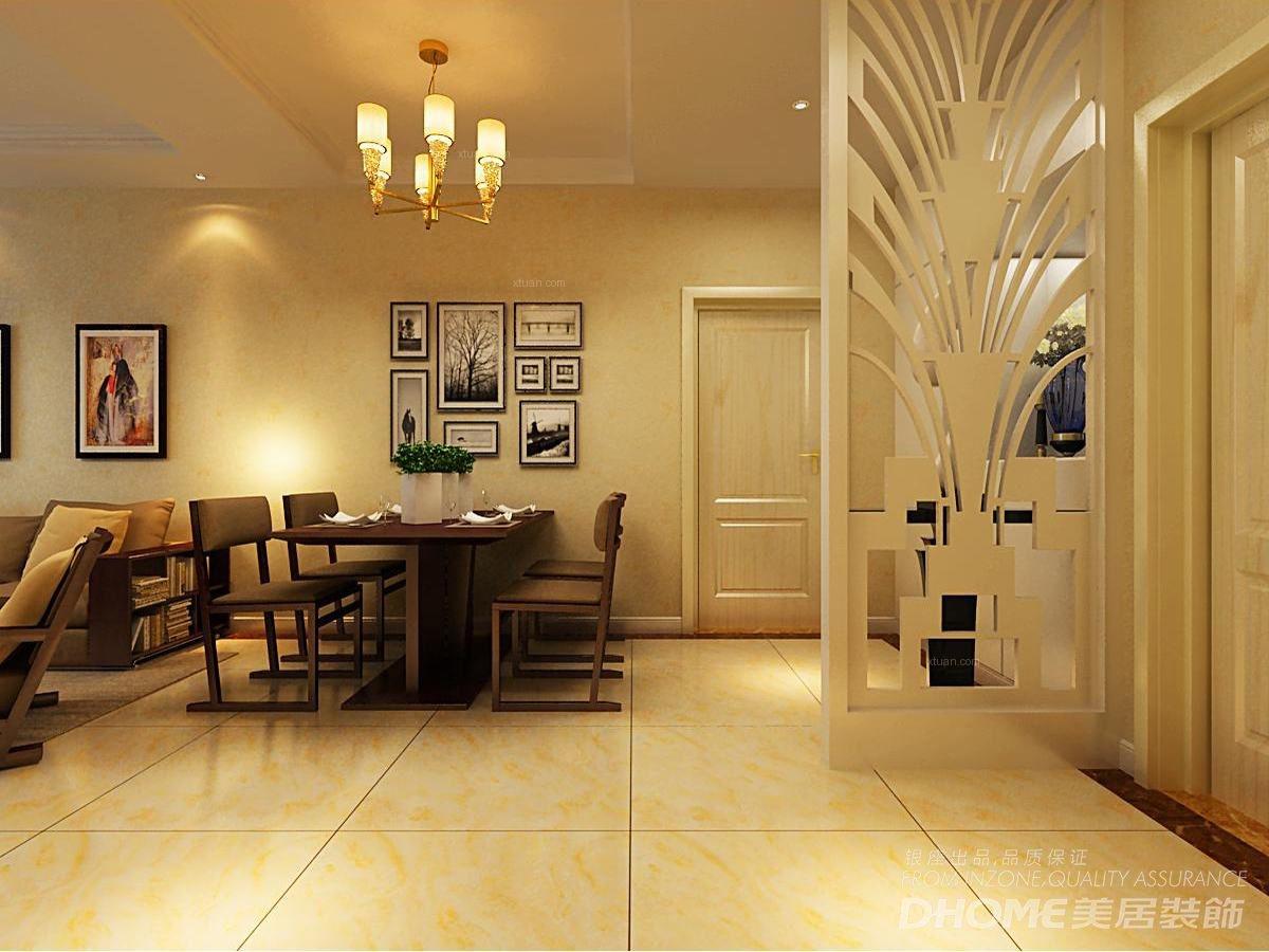 三室两厅现代简约玄关隔断_现代港式 卢浮公馆 130平图片