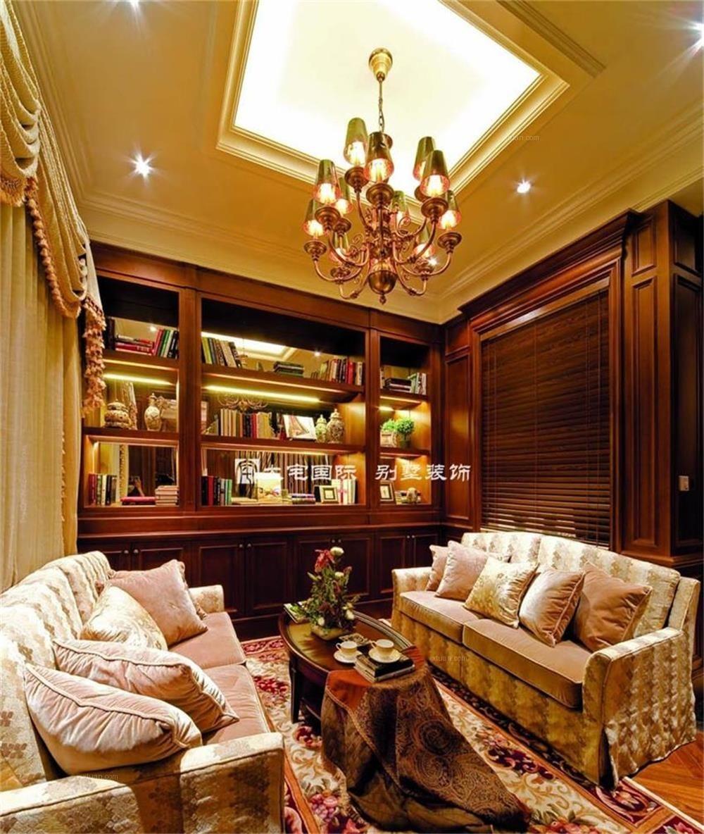 贵族庄园 熠熠生辉的美式风格别墅样板间设计案例