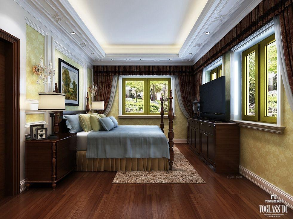 别墅田园风格卧室