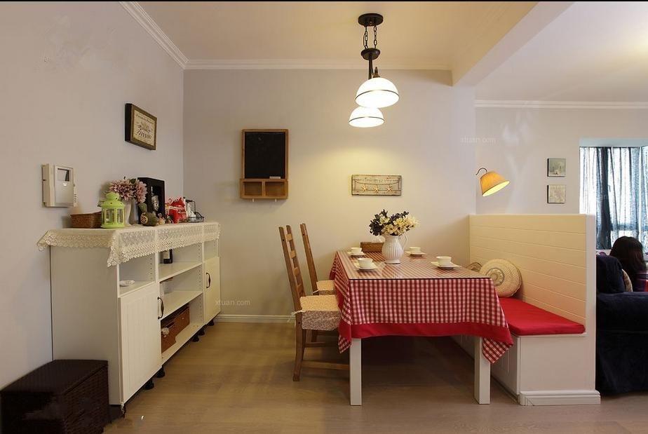 三室一厅现代风格餐厅照片墙