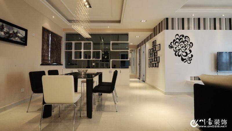 南湖国际-现代黑白灰风格