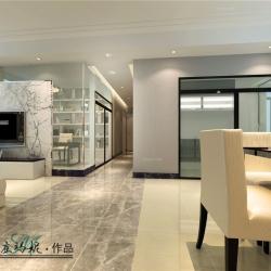 盘龙居小区140平米四居室现代简约装修设计案例