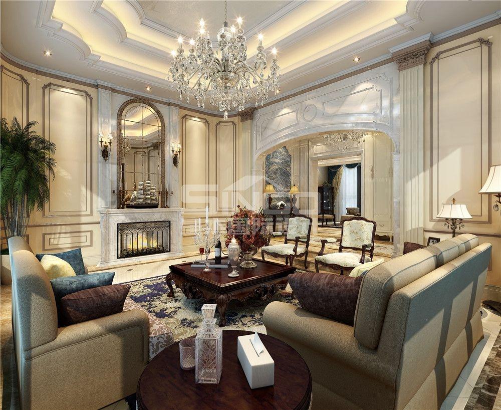 500平欧式独栋别墅装修效果图图片