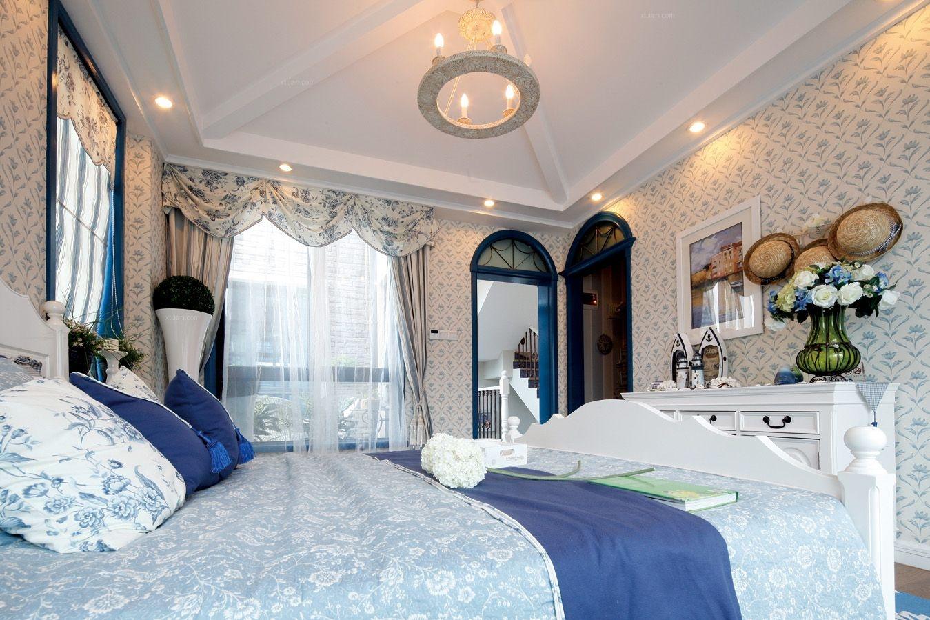 别墅地中海风格主卧室