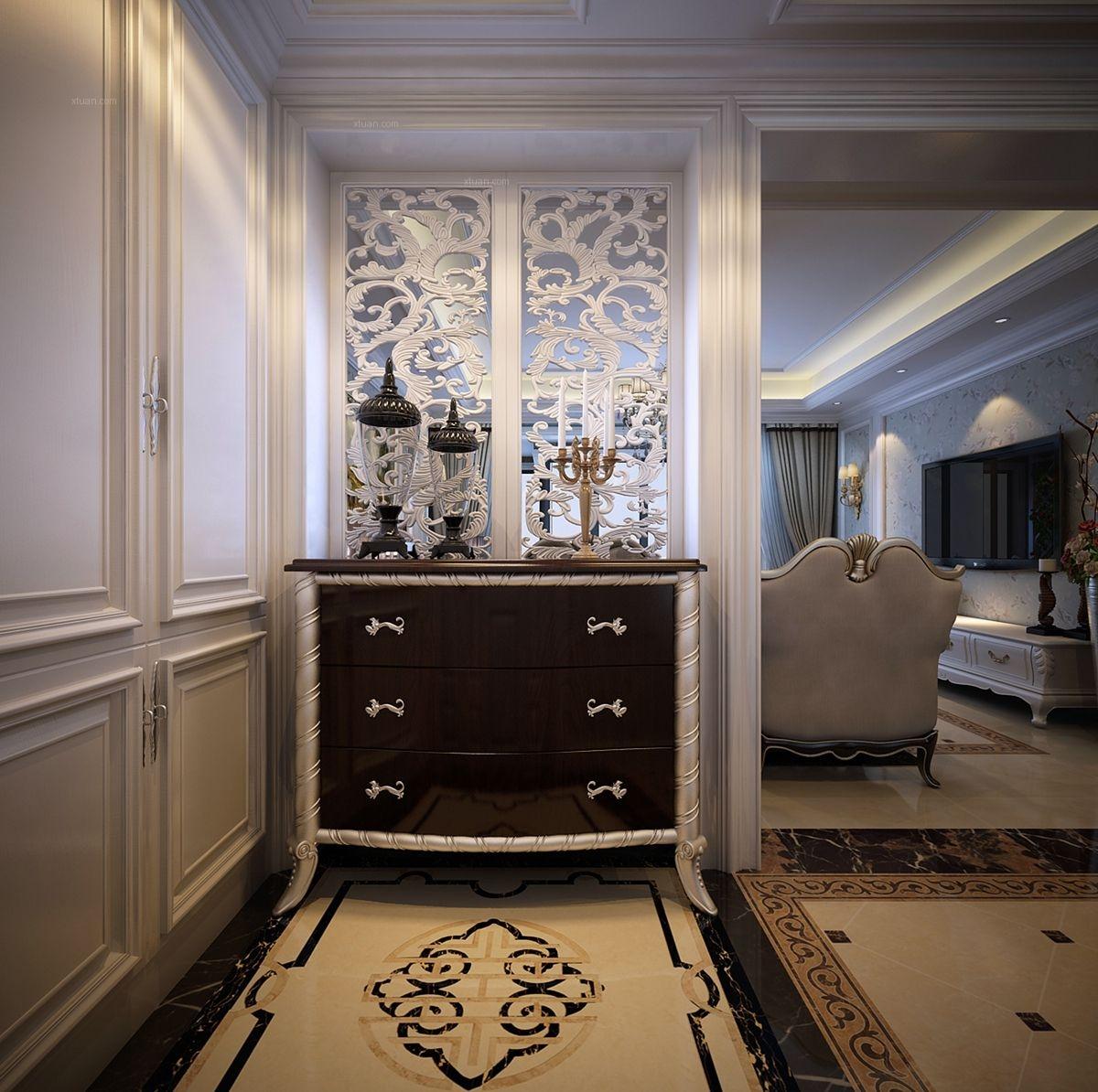 三居室欧式风格玄关图片