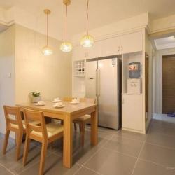 怡合景苑88平米2室2厅1卫简约原木风情