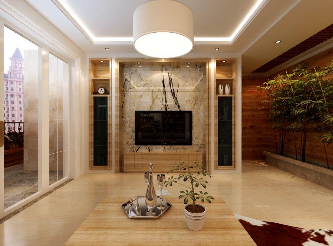 两室一厅英式风格客厅图片