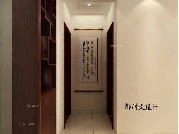 三室两厅现代简约过道